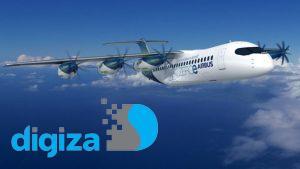 ایرباس از مدل مفهومی هواپیمای مسافربری با پیشرانه هیدروژنی جداشونده رونمایی کرد