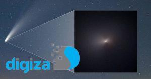 تصویر کلوزآپ از دنبالهدار نئووایز توسط ناسا