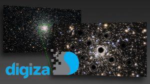 شواهدی از وجود دهها سیاهچاله در یک خوشه ستارهای