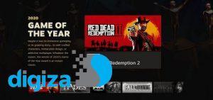 عنوان Red Dead Redemption 2 بهترین بازی سال استیم شد