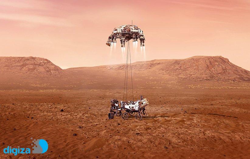 مریخنورد «پشتکار» ناسا با موفقیت بر سطح مریخ فرود آمد