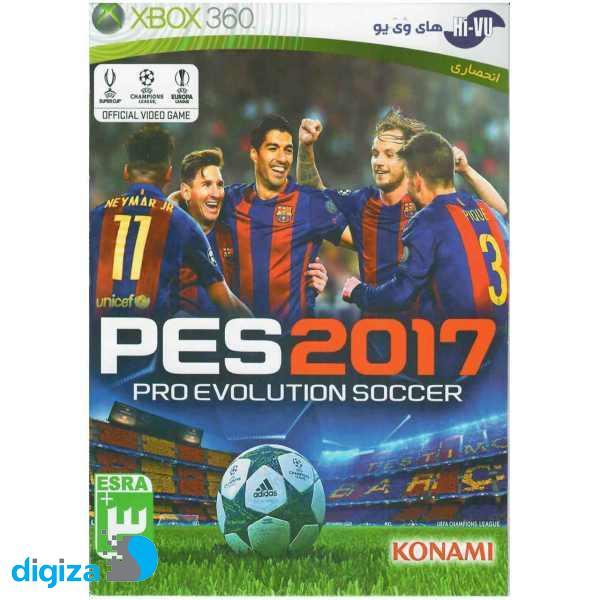 بازی PES 2017 مخصوص Xbox 360 نشر گردو