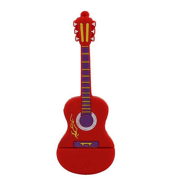 فلش مموری طرح گیتار آتشین مدل Ul-Pv-Gur01 ظرفیت32گیگابایت