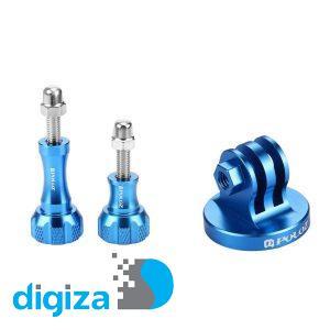 مجموعه پیچ و تبدیل آلومینیومی پایه به سه پایه معمولی پلوز مناسب برای دوربین ورزشی گوپرو
