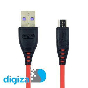 کابل تبدیل USB به MicroUSB ترانیو مدل S1-V طول 1 متر
