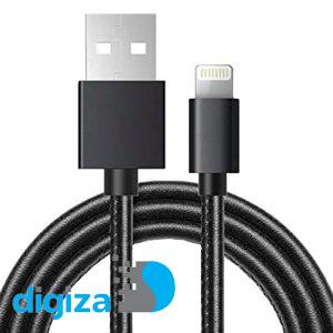 کابل دیتای لایتنینگ جاست لاو  مدل HighSpeed Date Transfer به طول 2 متر مناسب برای گوشی های تلفن همراه اپل با روکش چرمی