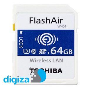 کارت حافظه SDXC توشیبا مدل W-04 Wireless کلاس 10 استاندارد UHS-I U3 سرعت 90MBps ظرفیت 64 گیگابایت