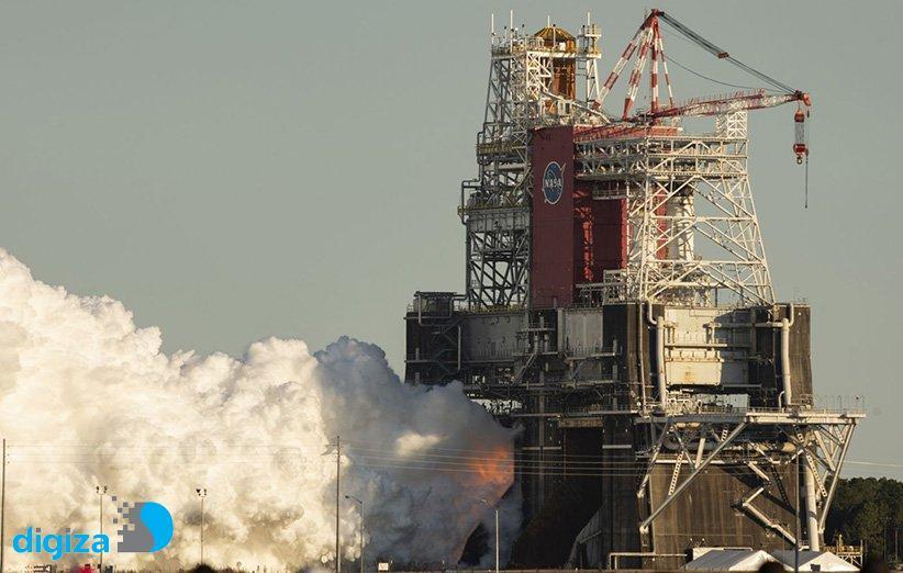 ناسا چهار موتور قدرتمند سامانهی پرتاب فضایی را به طور همزمان آزمایش کرد