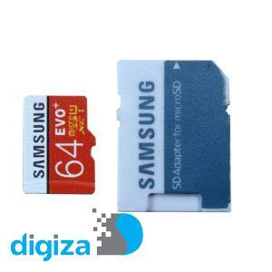 کارت حافظه microSDXC مدل Evo Plus کلاس 10 استاندارد UHS-I U1 سرعت 100MBps ظرفیت 64 گیگابایت به همراه آداپتور SD