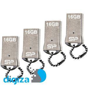 فلش مموری سیلیکون پاور مدل Touch T01 ظرفیت 16 گیگابایت بسته 4 عددی