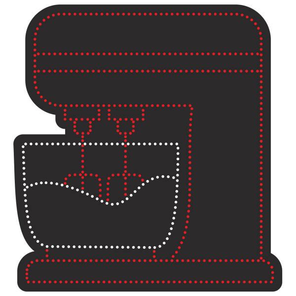 تابلو ال ای دی آیاز طرح همزن کد 549