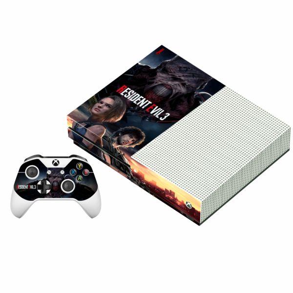 برچسب ایکس باکس وان اس پلی اینفینی مدل Resident Evil 3 به همراه برچسب دسته