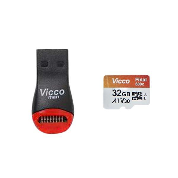 کارت حافظه microSDHC ویکومن مدل Final 600X Plus کلاس 10 استاندارد UHS-I U3 سرعت 90MBps ظرفیت 32 گیگابایت