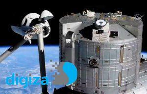فضاپیمای سرنشیندار اسپیسایکس با گذر از یک خطر به ایستگاه فضایی رسید