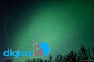 چینهای سبز در آسمان