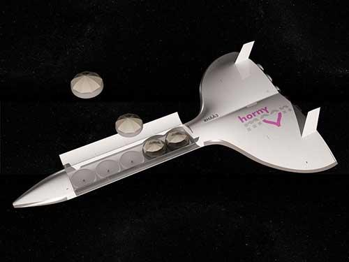 طرح مفهومی برای ماه عسل فضایی برای زوجها