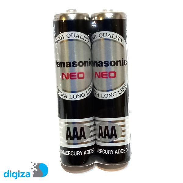 باتری نیم قلمی پاناسونیک مدل R03NT  مجموعه 2 عددی