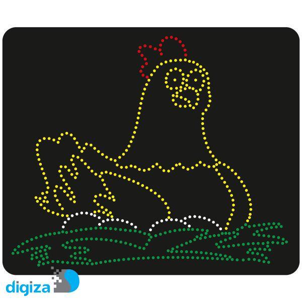 تابلو ال ای دی طرح مرغ و تخم مرغ کد 10402