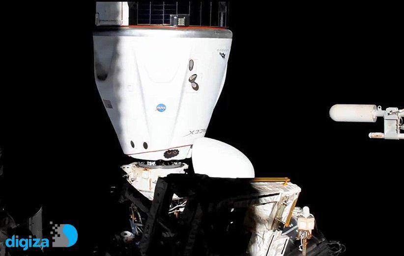 کپسول سرنشیندار دراگون اسپیسایکس در ایستگاه فضایی جابهجا شد
