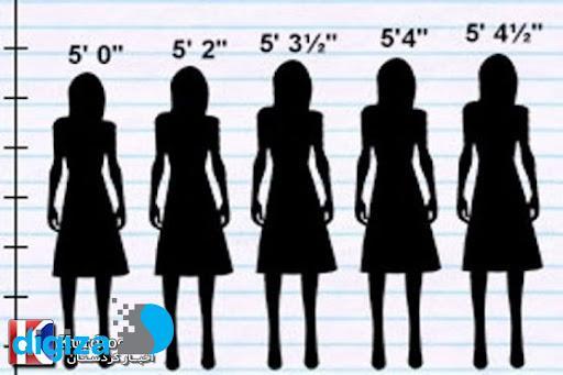 تاثیر قد زنان بر میزان سلامت آنها