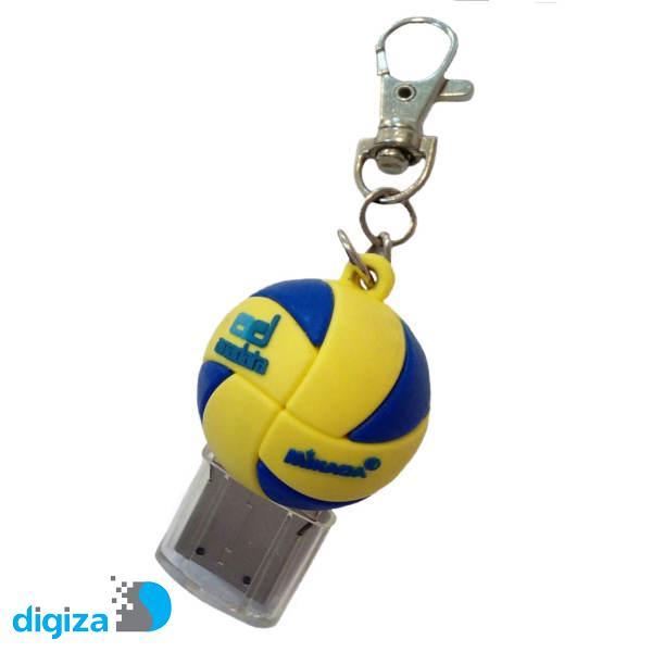 فلش مموری پی وی سی فلشیها طرح توپ والیبال ظرفیت 16 گیگابایت