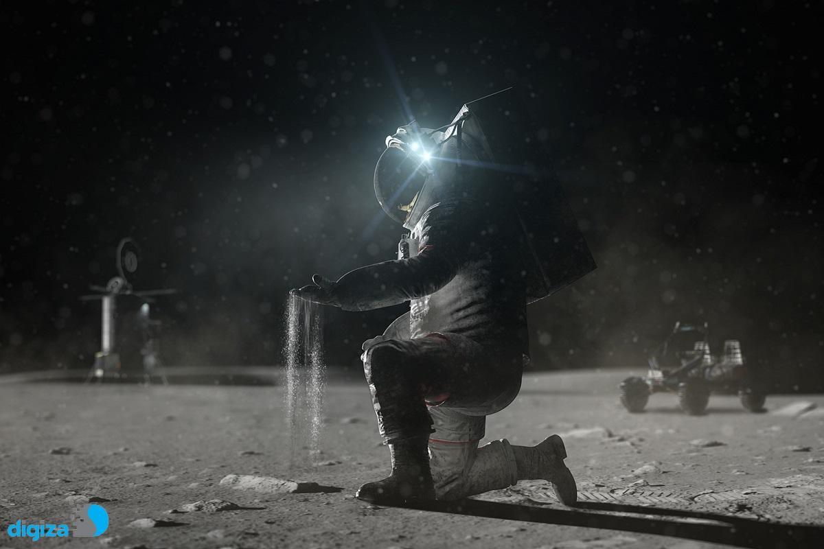 ناسا برای بررسی امکان ساخت اسکان روی ماه یک پرینتر سه بعدی به ایستگاه فضایی فرستاد