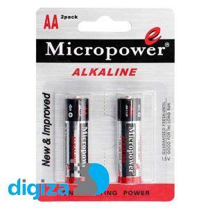باتری قلمی میکروپاور مدل LR6 2B بسته دو عددی