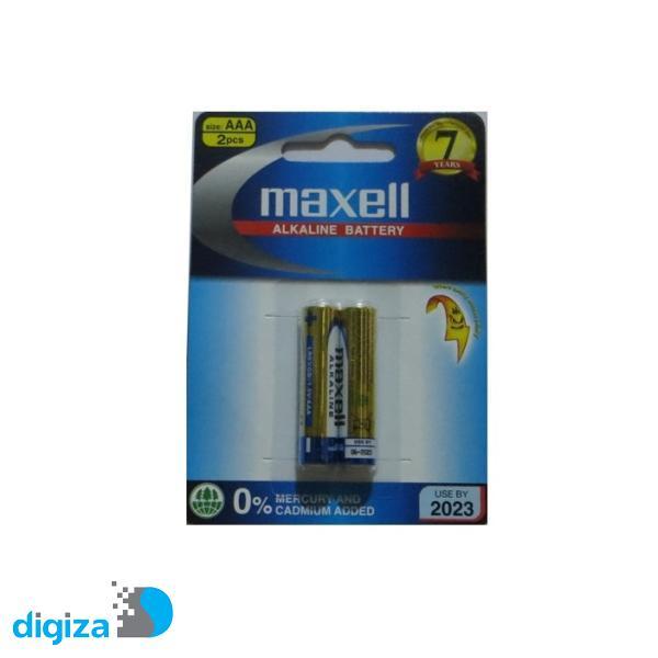 باتری نیم قلمی مکسل مدل Alkaline بسته 2 عددی